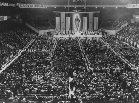 Pro-Nazi German American Bund rally at Madison Square Garden. New York, United States, February 20, 1939.