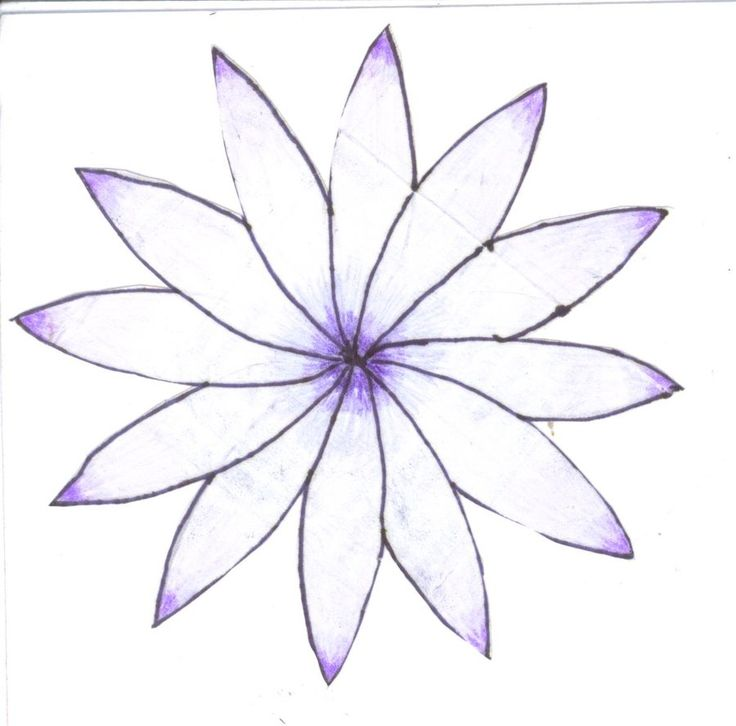 Very easy drawings of flowers