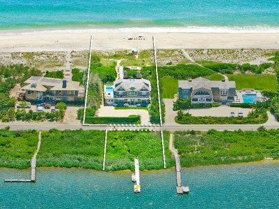 Ocean and Bay Front Water Mill, Water Mill NY Single Family Home - Hamptons Real Estate