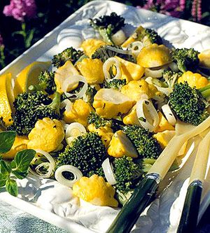 The scalloped edges of the sunburst squash add a novel shape and buttery flavor to this vegetable stir-fry.