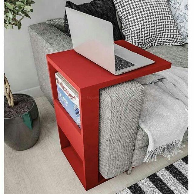 {Inspiração} Super ideia! #detalhes #casaparadois #móvel #vermelho #decoracao…