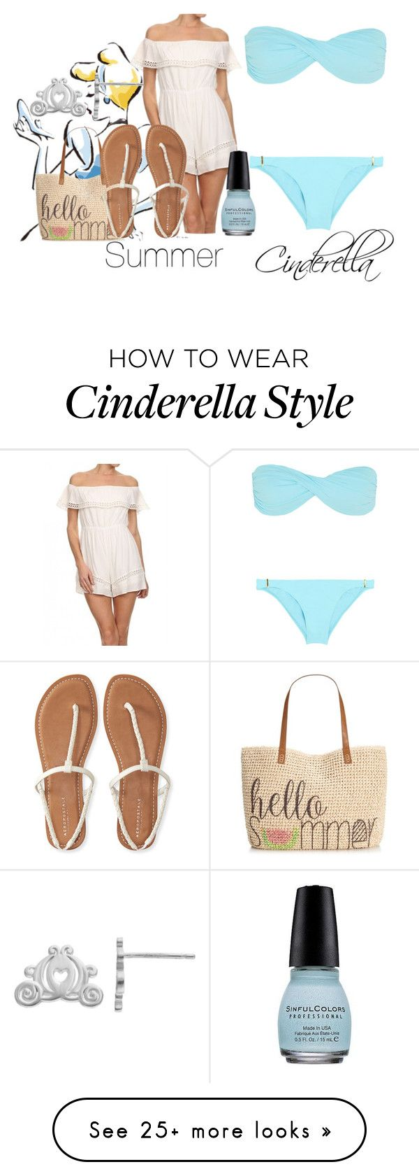 """Summer Cinderella"" by jakebake on Polyvore featuring Melissa Odabash, Disney, Style & Co. and Aéropostale"