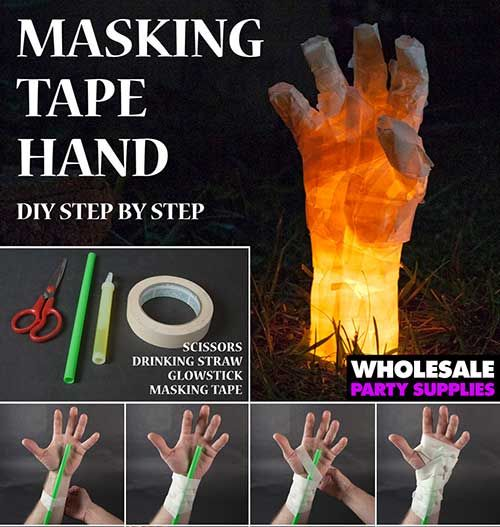 How to Make a Masking Tape Hand Prop