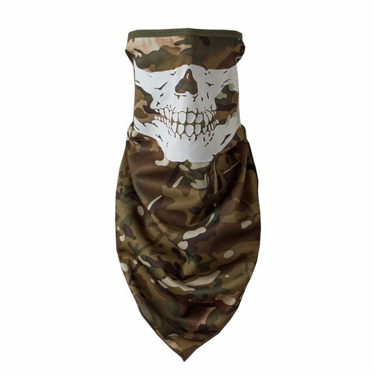 MAGCOMSEN Man Skull Skeleton Printing Face Masks Outdoors Bike CS Game Dust-proof Headgear Military Tactical Accessories PLY-02
