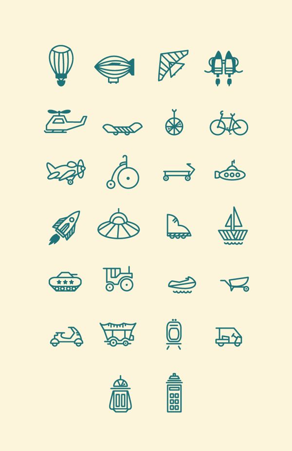 Transportation Pictograms on Behance
