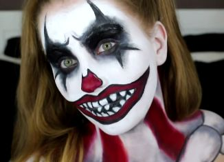 Scary+Clown+Makeup+Ideas | Scary Clown Makeup Tutorial Halloween 2014