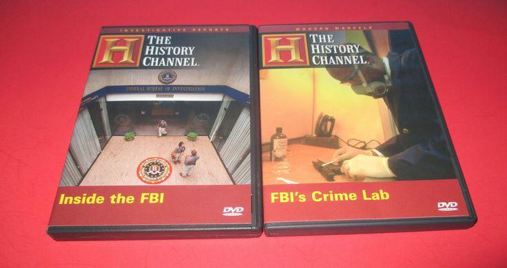 2 DVD LOT  Inside the FBI & FBI Crime Lab  (2007 History Channel ) History Crime #InsidetheFBI ##FBICrimeLab #FBI #crime #documentary #crimeinvestigation #movies http://stores.ebay.com/vinylrockretro