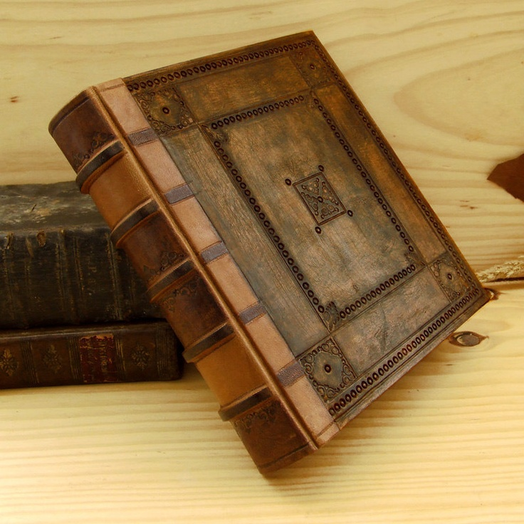 Handmade Leather Journal Large Blank Book Embossed