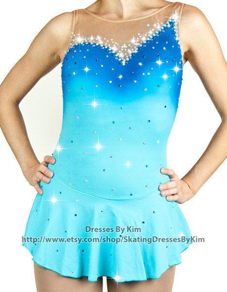 Aangepaste figuur schaatsen jurk  Mermaid / Baton