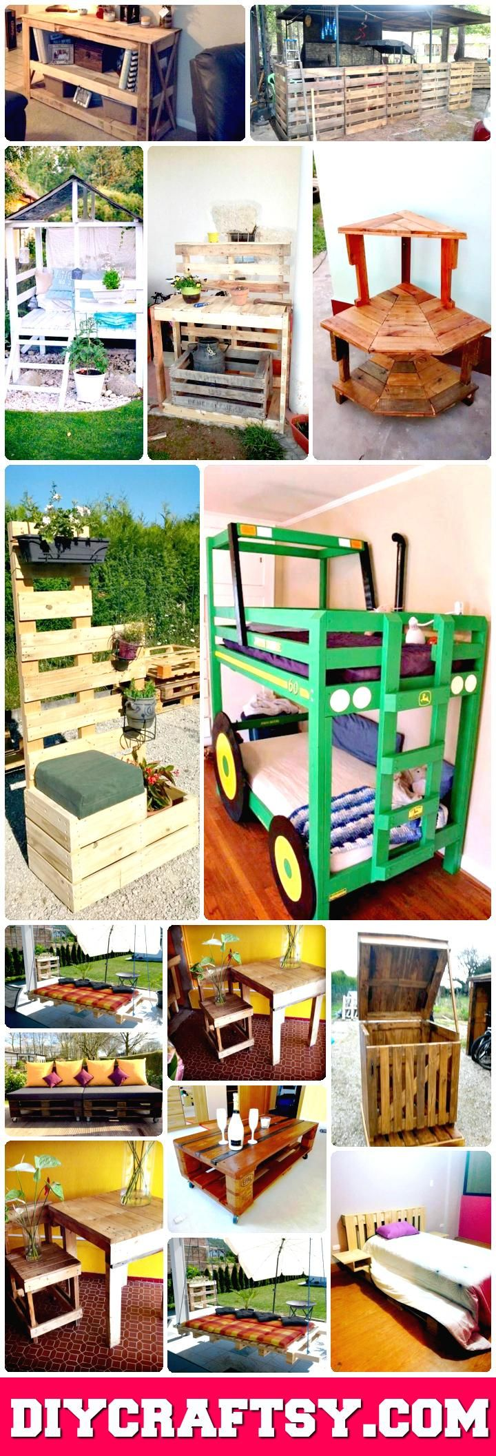 Top 30 Pallet Ideas to DIY Furniture for Your Home - DIY & Crafts