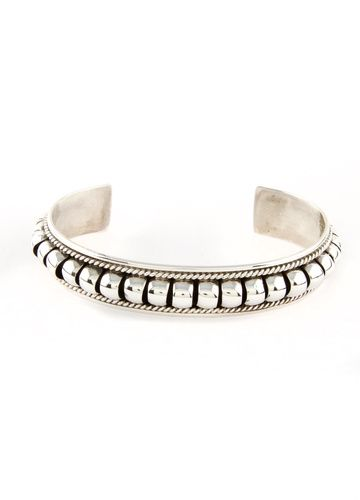 Thomas Charlie Sterling Silver Water Bead Cuff Bracelet | Silver Eagle Gallery