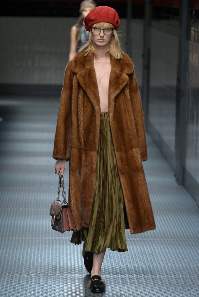 In his freewheeling debut at Gucci, Alessandro Michele laced his fall ready-to-wear collection with nerd-chic dress codes popularized by urban hipsters. [Photo by Davide Maestri]