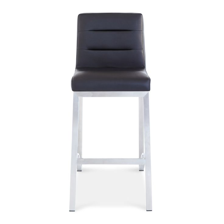 lynx counter height bar stool with metal base zuri furniture