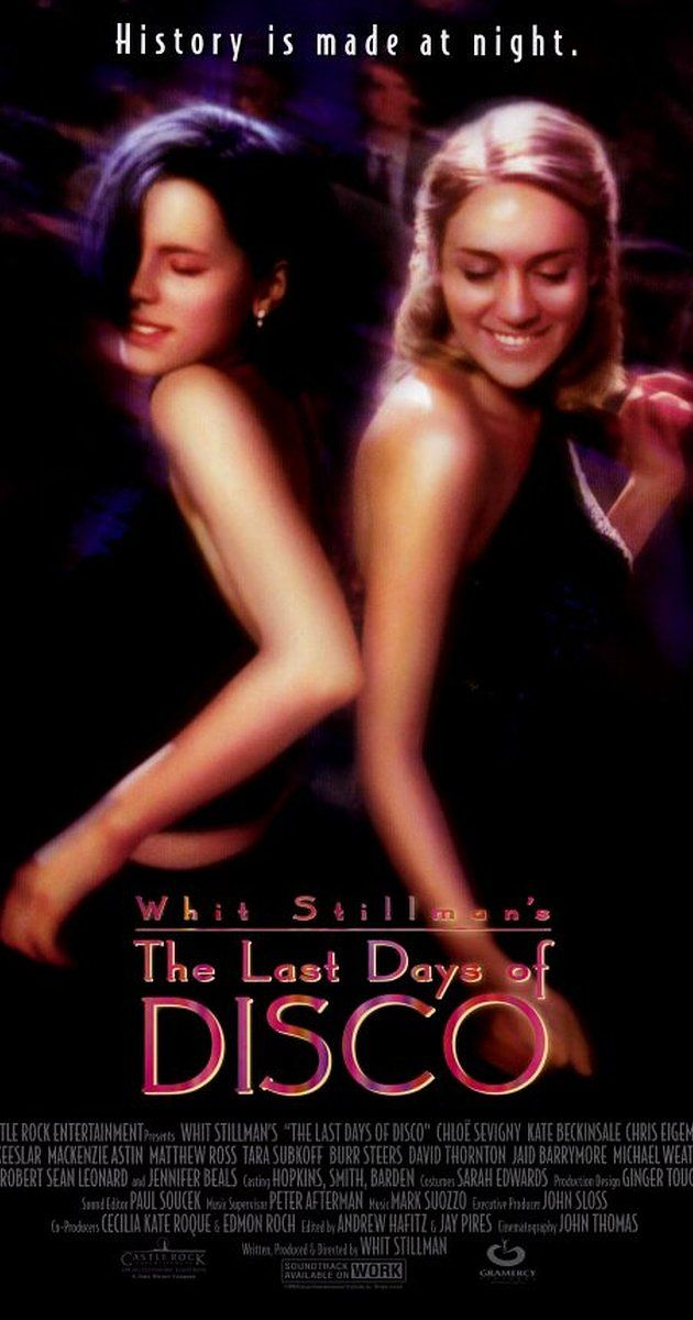 """Directed by Whit Stillman.  With Chloë Sevigny, Kate Beckinsale, Chris Eigeman, Mackenzie Astin. Story of two female Manhattan book editors fresh out of college, both finding love and themselves while frequenting the local disco. """"Entertaining and fun walk down memory lane."""""""