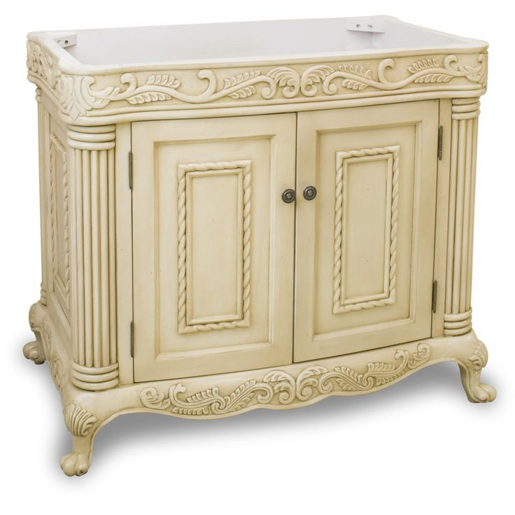 "Traditional Antique Finish 36"" Vanity Base Without Countertop"
