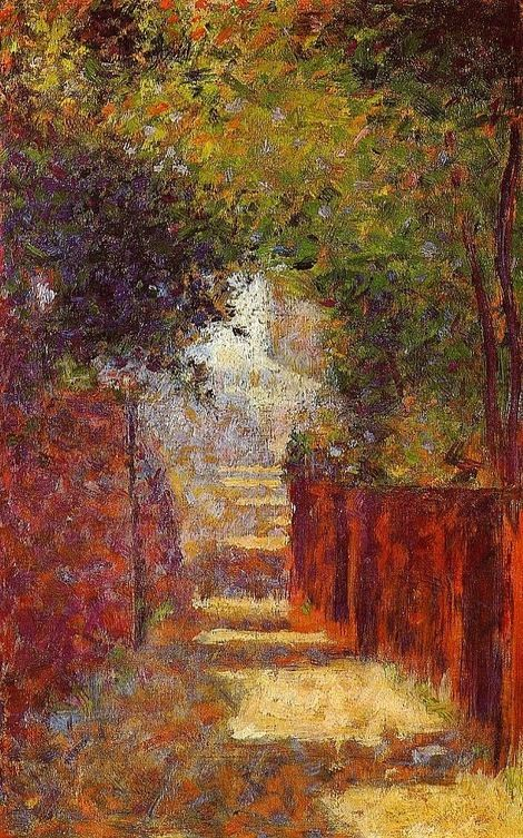 Georges Seurat, Rue St. Vincent in Spring on ArtStack #georges-seurat #art