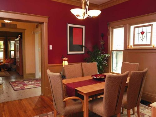 Dining Room Paint Colors Scheme Idea For Your Creation Marvelous Area With Red Paints Color On The Classic Dinin