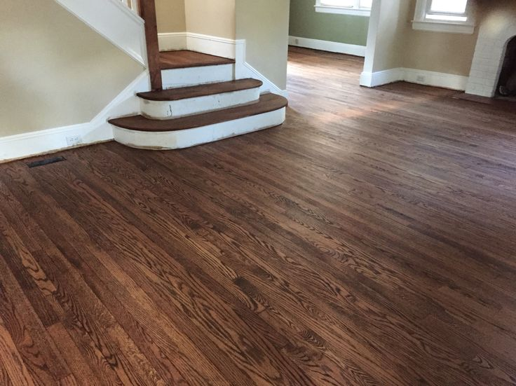 Red oak minwax provincial stain before gloss and satin for Oak floor colors