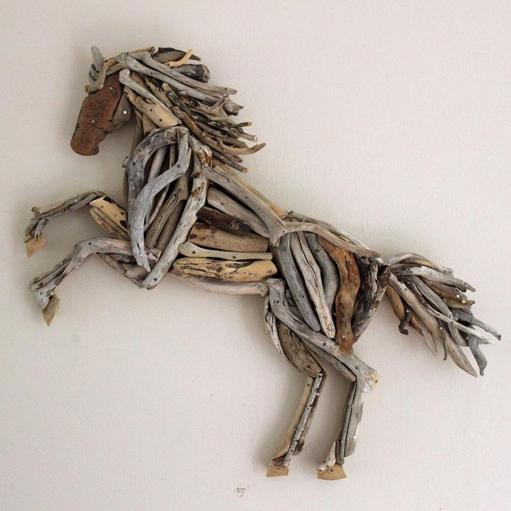 Driftwood Rampant Horse Artwork finished  and for sale in my Etsy shop. This is the first of a new collection of driftwood horses I am currently working on... back to the workshop #reclaimedtime #driftwoodhorse #rampanthorse #driftwoodart #etsy #etsyshop #driftwood #horselover #horsesofinstagram