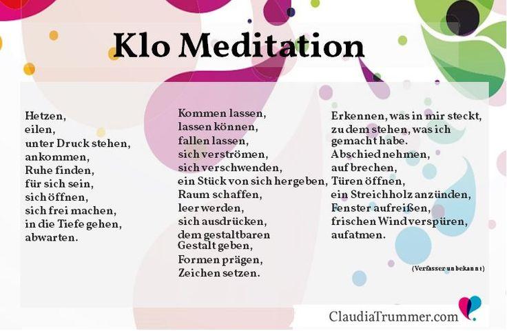 Klo-Meditation zum Ausdrucken auf www.ClaudiaTrummer.com