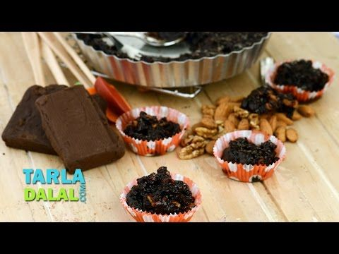 Nutty Hot Chocolate and Coconut Pudding Video by Tarla Dalal | Recipe Video | Indian and International Cooking Videos | Tarladalal.com