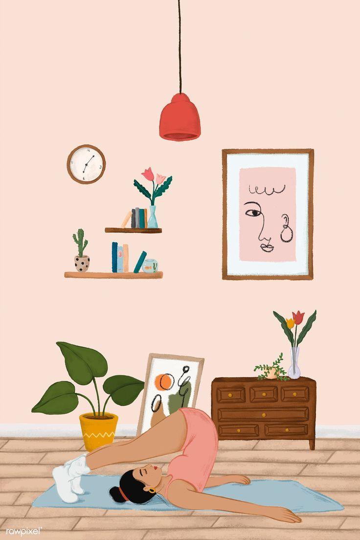 Download Premium Vector Of Girl Doing A Halasana Yoga Pose Sketch Style Yoga Illustration Yoga Art Illustration
