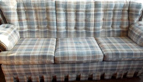 Vintage Mad Plaid 7 Sofa Sleeper Hillman House White