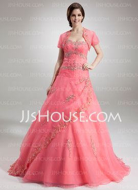Short Sleeve Organza Special Occasion Wrap (013016903) - JJsHouse