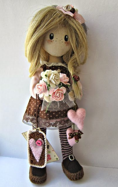 Colors of my life cloth doll by Irina Moldova