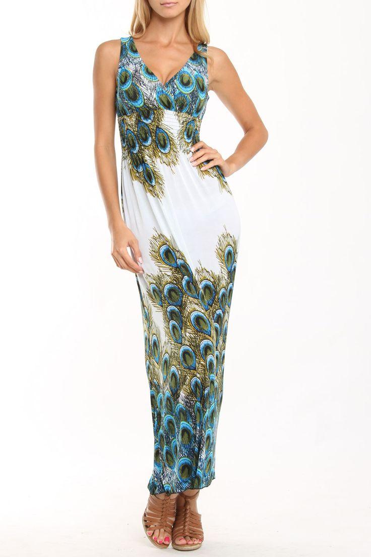 Peacock Maxi Dresses