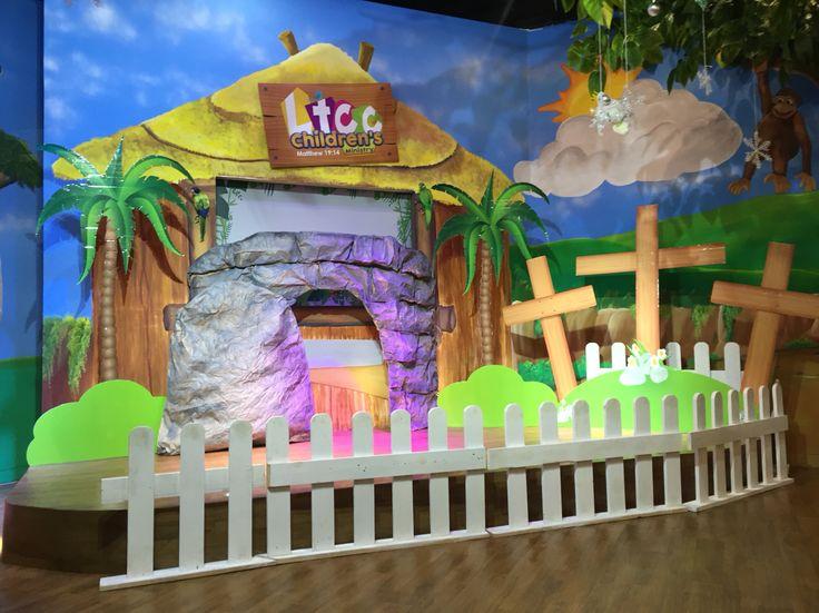 Easter decoration for LTCC kids church. Dekorasi paskah.