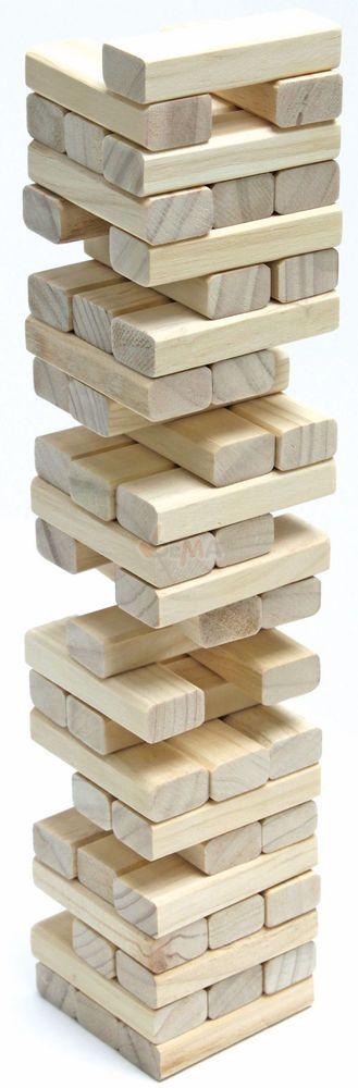 Holz Wackelturm Holzspielzeug Spiel Gesellschaftsspiel Geschicklichkeit