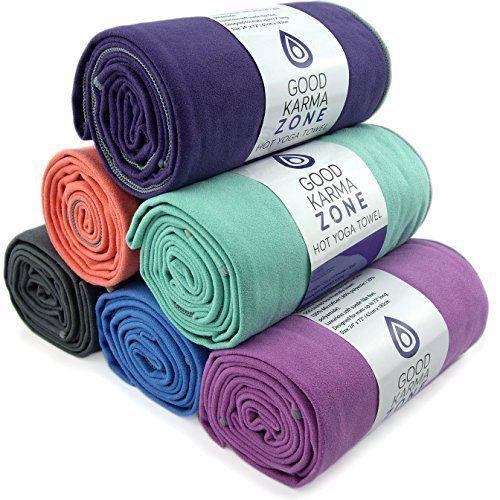 Bikram Hot Yoga Towel - STOCK CLEARANCE - Microfiber Non Slip Skidless Yoga Mat Towels for Yoga, Exercise, Fitness, Pilates (Aqua) - http://www.exercisejoy.com/bikram-hot-yoga-towel-stock-clearance-microfiber-non-slip-skidless-yoga-mat-towels-for-yoga-exercise-fitness-pilates-aqua/yoga/