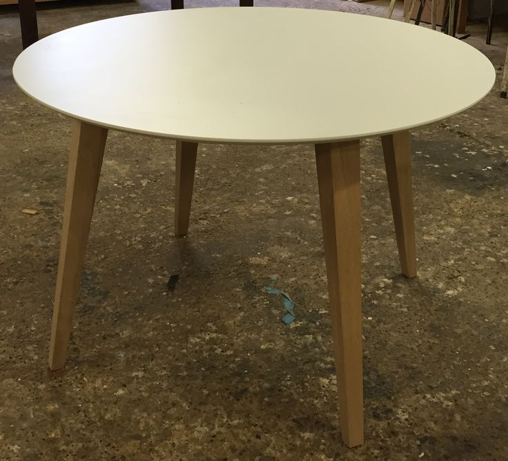 Custommade table in different colours and sizes.  http://www.kjeldtoft.com/