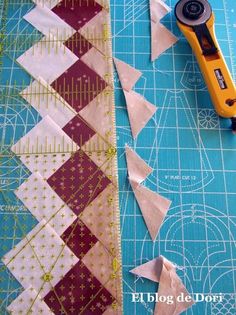El blog de Dori: patchwork seminole This is really a great tutorial..!