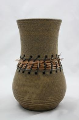 Susan Amann | 2 Piece Vessel with Woven Pine Needles