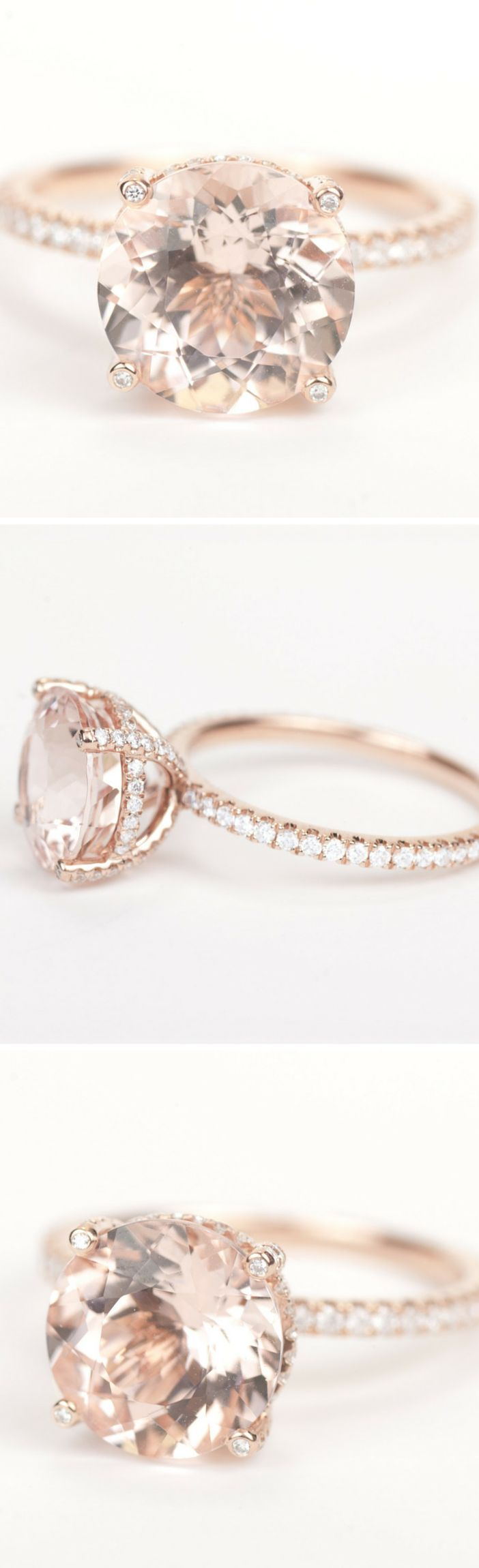 Amazing rose gold engagement rings
