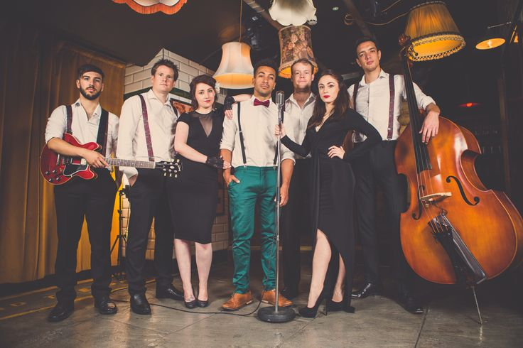 Bond Street are cool cats! Perfect for #vintage #weddings they play modern songs in a swing style.   #weddingentertainment #swing #headliner #music