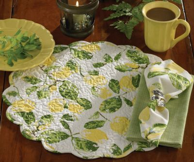 Lemon themed round Placemat - By Park Designs