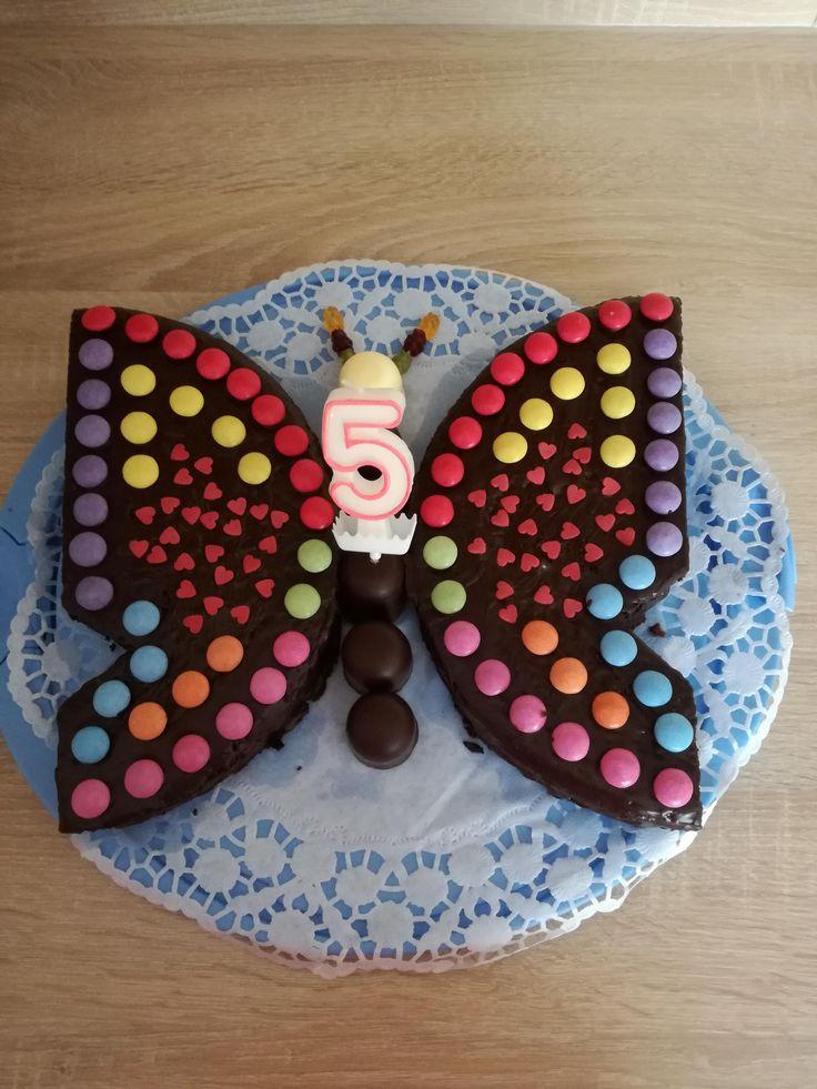 Schokoladenkuchen als Schmetterling von MSCA auf www.rezeptwelt.de, dem Thermomix ® …   – Happy Birthday