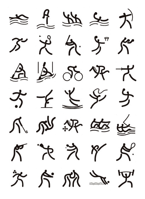 Olympic pictograms for the Beijing Olympics#ChineseDesign