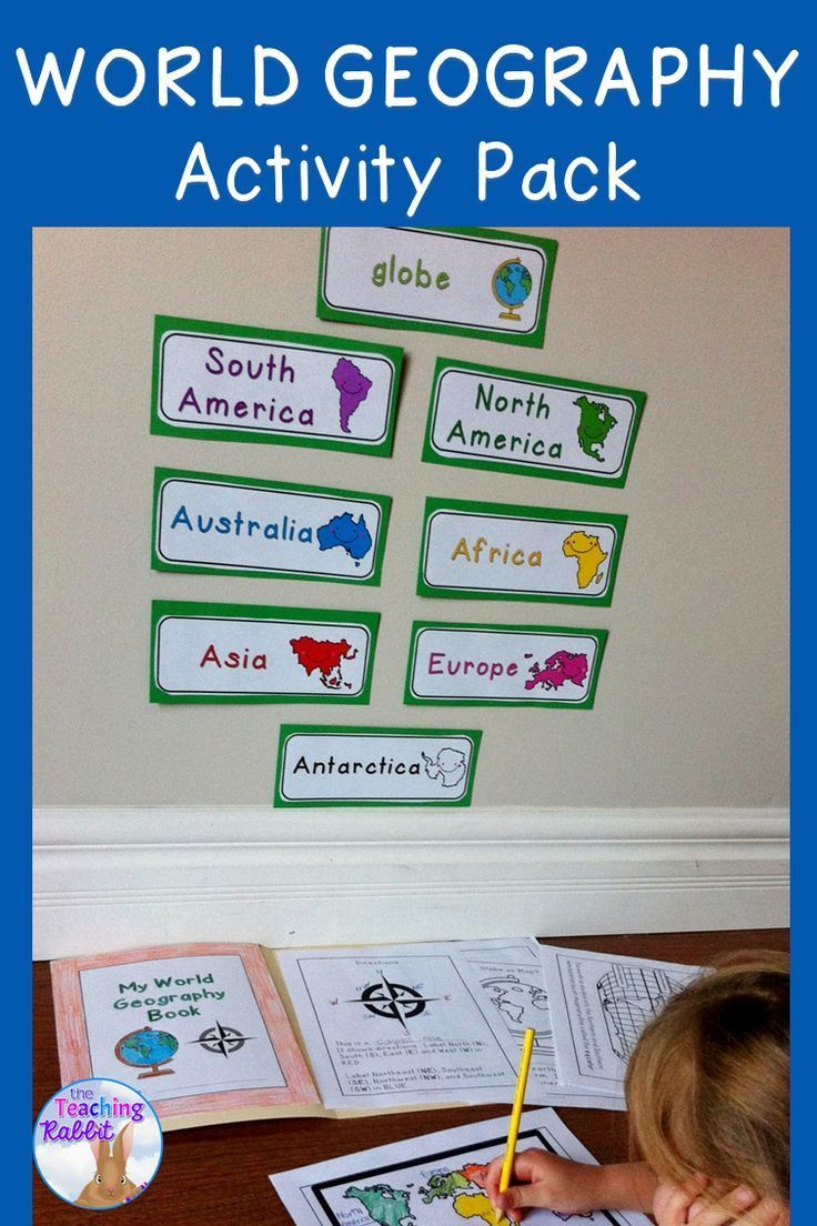 This resource contains a 10-page work booklet with world maps (continents, countries, oceans, and equator), a continents match up game, continents word wall cards, a geography quiz, and a word search. It is a great way to introduce world geography concepts to primary students!