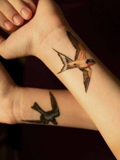 kuş bilek dövmeleri bayan bird wrist tattoos for women