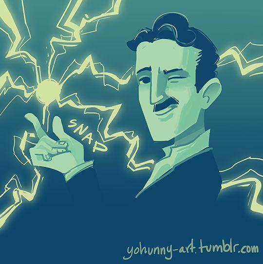 Palette/Emoji challenge - Nikola Tesla by yohunny.deviantart.com on @DeviantArt
