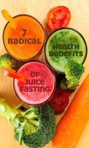 7 Radical Health Benefits Of Juice Fasting: 1. Digestion 2. Energy 3. Weight loss 4. Skin 5. Energy 6. Sleep 7. Detox