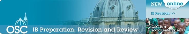 Oxford Study Courses-IB: news and details of their revision courses, guides and online services
