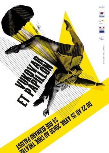 affiche compagnie theatre en mouvement, Mael Herrero, maelable, graphiste freelance, montpellier