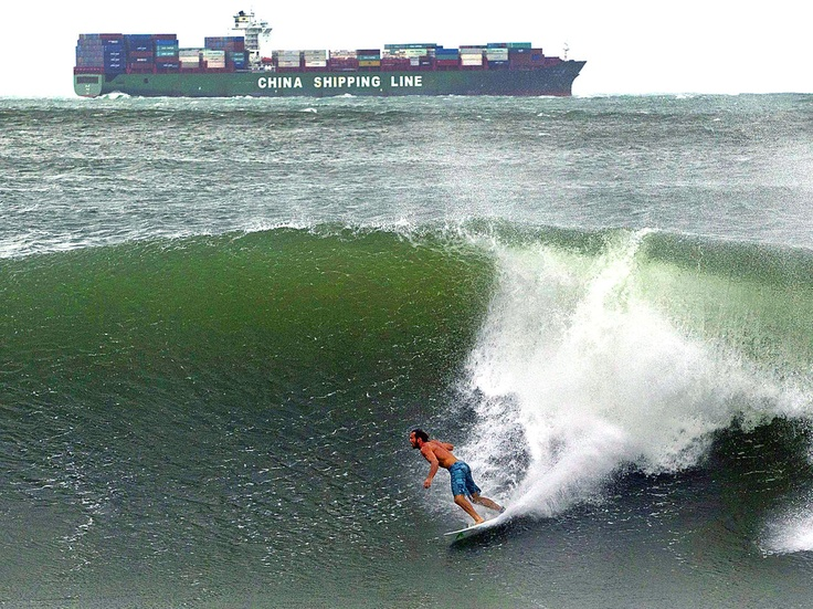 Surfing in Durban, South Africa