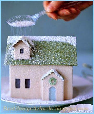 Новогодний домик из картона