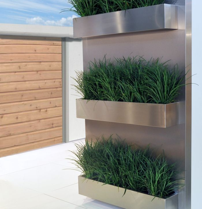 27 best stainless planters images on pinterest herb. Black Bedroom Furniture Sets. Home Design Ideas